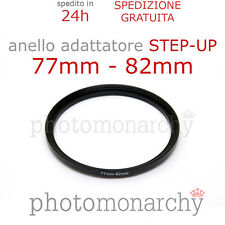 Anello STEP-UP adattatore da 77mm a 82mm filtro - STEP UP adapter ring 77 82 mm