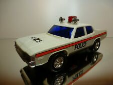 LUCKY HONG KONG AMERICAN POLICE CAR - WHITE L25.0cm - GOOD CONDITION - BATTERY