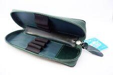 Pilot Leather 6 fountain pen case - Dark Green