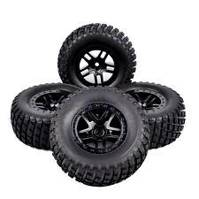 4X RC 1:10 Short Course Truck Tires Rims 12mm Hex For TRAXXAS SLASH HSP Racing