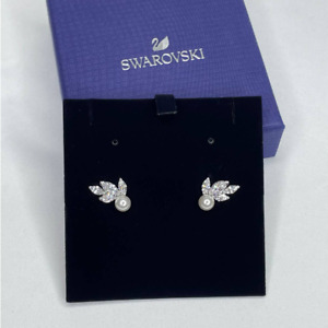 Swarovski Jewelry Louison Pearl Pierced Earrings White Rhodium Plating 5422683