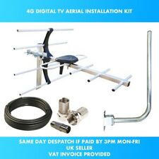 More details for 4g digital tv aerial kit freeview and hd for indoor outdoor or loft installation