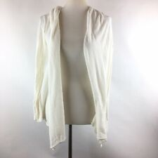 CHAPS Womens Open Front Cotton Blend Cardigan Sweater Size Petite Large Ivory