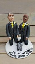 Personalised Wedding Cake Topper same sex, Unique handmade clay keepsake