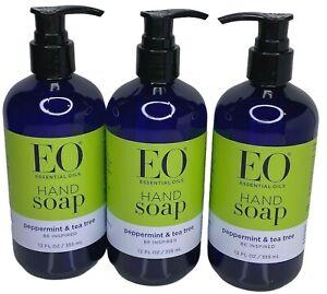 EO Products Liquid Hand Soap Peppermint & Tea Tree, 12 fl oz 3 Pump Bottles