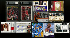 MICHAEL JORDAN LeBRON JAMES GAME USED JERSEYS PATCHES AUTO ROOKIE CARDS BGS (46)