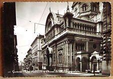 Genova - Via Assarotti e chiesa S.M.Immacolata [grande, b/n, viaggiata]