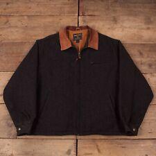 "Mens Vintage Woolrich Grey Lined Wool Harrington Jacket USA XL 46"" R15924"