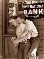Vintage Gay Bank Photo Bizarre Odd Freaky Strange