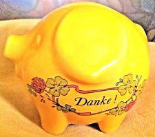 "Vintage Pig  ""DANKE""(Thank You) Ceramic Piggy Bank~Unmarked believe it's German"