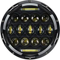 75W 7 INCH MOTORCYCLE PROJECTOR DAYMAKER LED LIGHT HID BULB HEADLIGHT For Harley