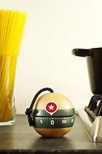 Suck UK Kaboom Wooden Boom Kitchen Timer Wind Up 60 Minute Egg Timers Fun Gadget