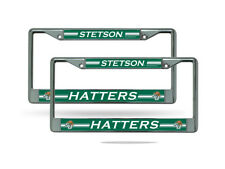 Stetson Mad Hatters NCAA Chrome Metal (2) License Plate Frame Set