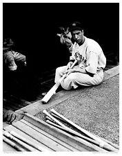 "11""x14"" B/W PHOTO: NY YANKEE JOE DIMAGGIO IN VISITORS DUGOUT FENWAY PARK; GIFT!"
