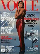 Marion Jones Signed Autographed Vogue Magazine Track Star JSA JJ82126