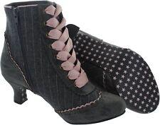 Ladies Joe Browns Couture Ambrose Grey Pinstripe Side Zip Boots Vintage Size 6