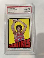 1972 Topps Basketball Julius Erving ROOKIE RC #195 PSA 8 NM-MT