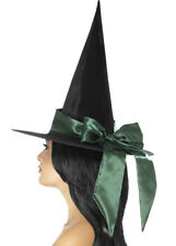 Halloween Deluxe Witch Hat with Green Bow
