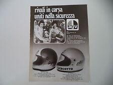 advertising Pubblicità 1976 CASCO AGV AGO X-3000/JOHNNY CECOTTO/GIACOMO AGOSTINI