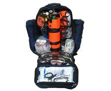 Ultimate Pro O2 Oxygen Backpack Trauma Kit, D Cylinder - Fully Stocked - Blule