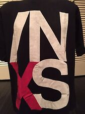 VTG 90 INXS Tour Shirt Sz XL Bauhaus Cure Mode REM OMD Berlin Joy Order Boys REM
