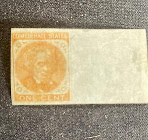 Confederate Stamp Scott 14, A10 Gum One Cent