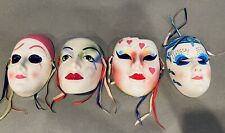 Four Ceramic Clown Masks