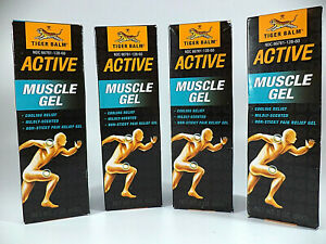 Lot of 4 - Tiger Balm Muscle Rub Pain Relief Gel 2 oz each