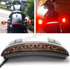12V Motorbike Chopper Fender LED Brake Tail Light For Harley Dyna Street Bob US