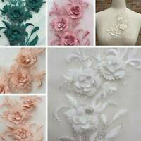 Lace Flower Applique Clothing Embroidery Patch Sticker Sew Cloth Decoration New