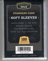 Cardboard Gold penny sleeves 100 Soft Card Sleeves