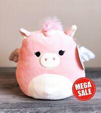 """Kellytoy Squishmallow 8"""" Pandora the Pink Pegasus NEW HTF Plush Toy Animal S19"""