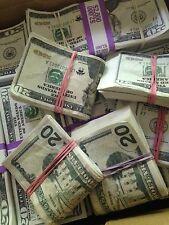 Prop Money $95k - $100,$20, $50 Mixed Bills Movie Money