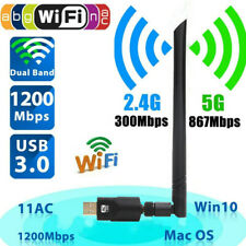 Dual Band WIFI WLAN Stick Adapter USB IEEE 802.11ac/b/g/n 1200 Mbit/s 2,4&5 GHz