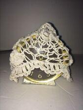 Hand Crochet Baby Hat Super Cute Cream Open Link Rosettes