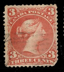 #25 Large Queen 3c  Canada used well centered