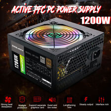 1200W Active ATX 12V PFC Desktop Gaming PC Power Supply 8PIN + 2x6PIN Silent Fan