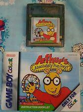 Arthur's Absolutey Fun Day! (Nintendo Game Boy) Game w/ booklet