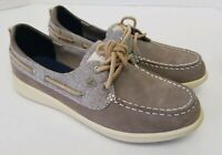 Sperry Top Sider Boat Shoes Leather Gray STS81859 Women's, Size 6.5