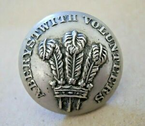Extremely Rare WW1 British Army Aberystwyth Volunteers Corp Tunic Button
