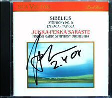 Jukka-Pekka SARASTE Signiert SIBELIUS Symphony No.5 En Saga Tapiola CD Sinfonie