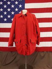 Eddie Bauer Down Coat Field Jacket Red Cotton Women's Size M