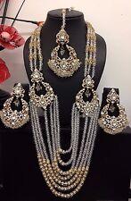 Dernière Bollywood Bijoux Indien Long Rani Haar Ensemble Collier Fête Mariage