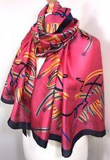 Pink Scarf Pashmina Navy Silk Silky Soft Oversized Long Multi Colours NEW