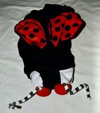 Ladybug Halloween Costume Dog Pets XL Black Red White