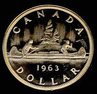 1963 Uncirculated $1.00 Canada Silver Dollar .800 Silver • Proof Like