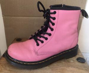 Kids DR MARTENS 1460 Acid Pink Boots - Size 13 (32)