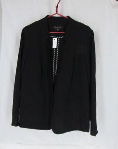 NWT Talbots Plus Black Blazer Jacket Triacetate + Polyester 18W msrp $239