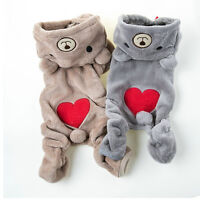 Chihuahua Teddy Dog Puppy Pet Jumpsuit Pajamas Warm Jacket Coat Clothes Funny md