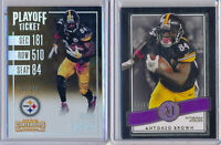 ANTONIO BROWN - 2pc - 2016 Contenders Playoff /249 & 2015 Museum Purple SP /50